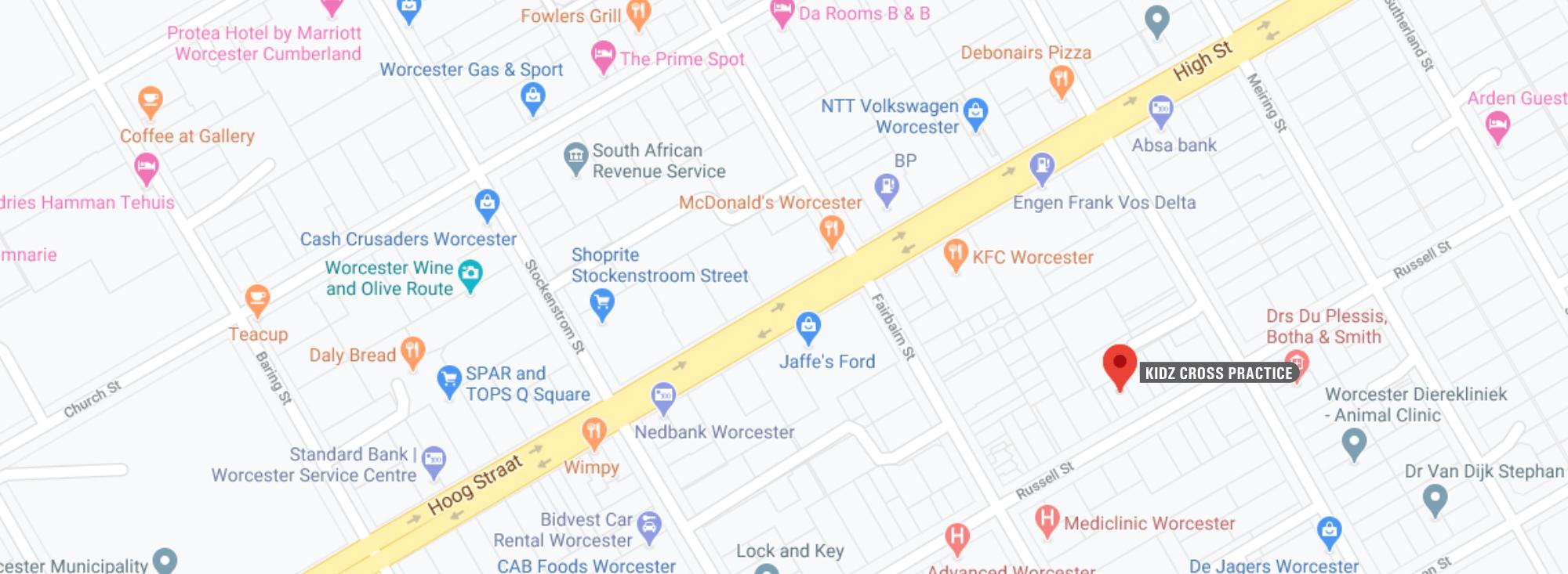 Kidz Cross Map 32 Russell STreet Worcester South Africa